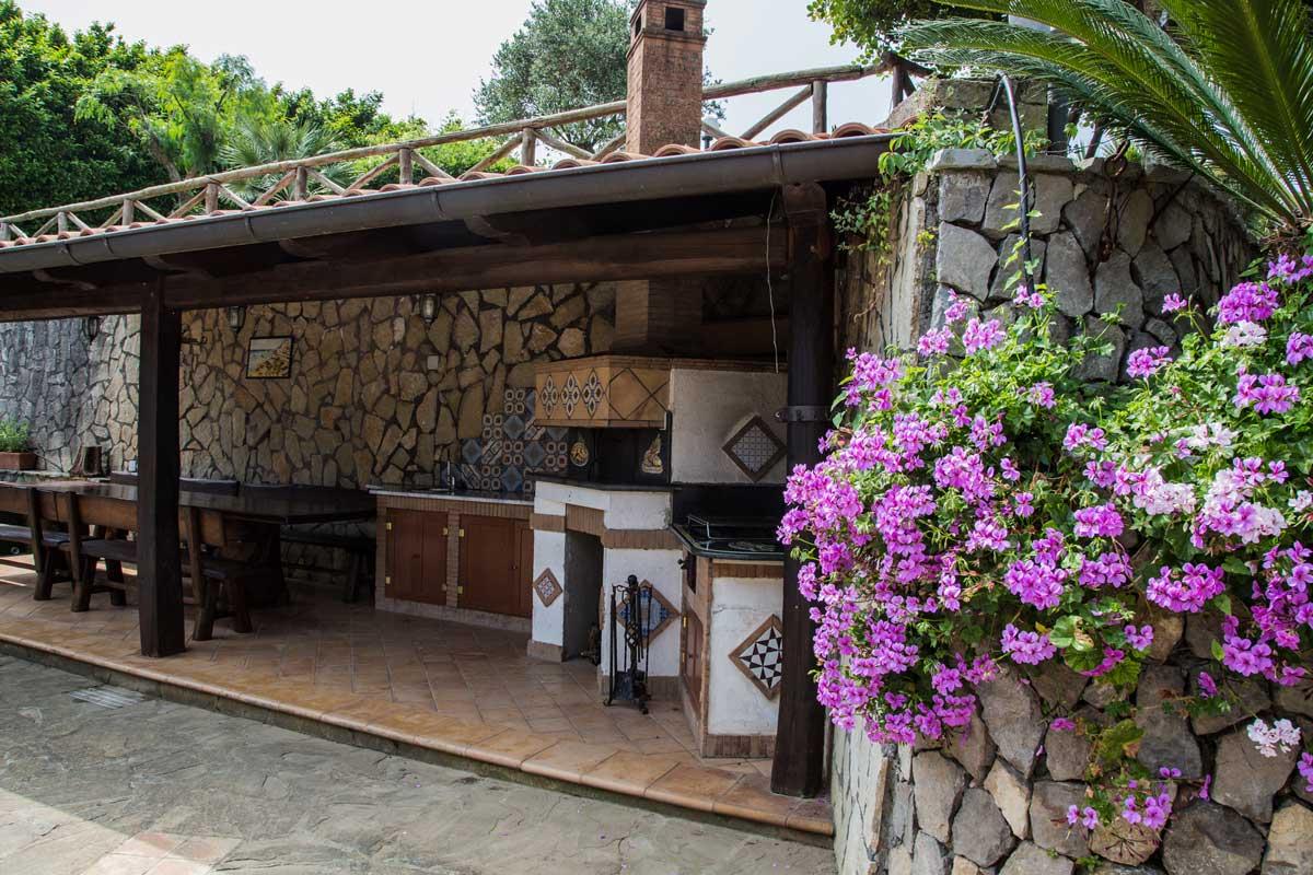 La pietra verde villa sorrento villa panoramica sul - Tettoia giardino ...
